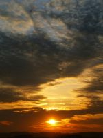 Sunset above my town by jufik