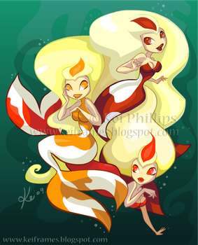 Koi Mermaids by kinkei