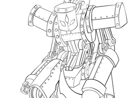 WIP- Steam Butcher outline by rithgroove