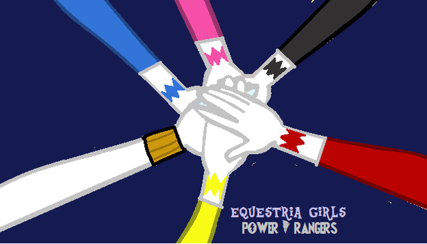 EQG power rangers by cam-and-sister-paint