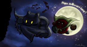 Happy Halloween 2007 Kirby ver by Fushidane