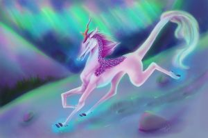 Aurora Kirin: Colors of the Mountains by RebekahByland