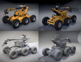 De-mining Robot (Blender 3D) by TomWalks