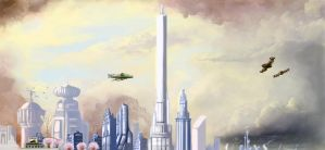 Old Omaha concept drawing by BoxofLizards