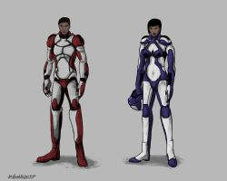 Character Sketches Space Cadets by tripplejaz
