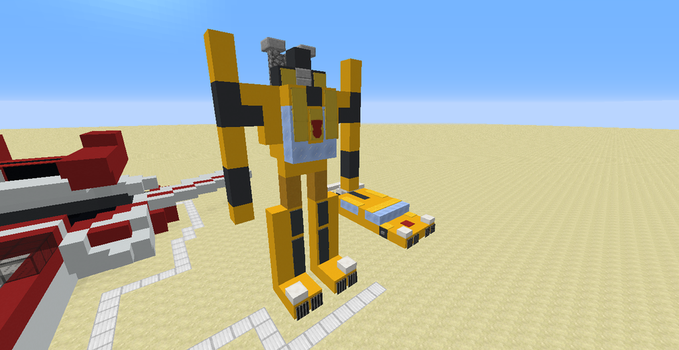 Sunstreaker (A Minecraft 1.12.X Creation) by Omega-the-24th-Wixon
