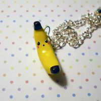 Banana Charm Necklace by Panduhmonium