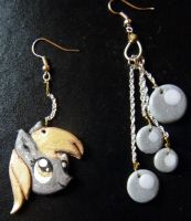 Derpy Hooves earrings by Adlynh