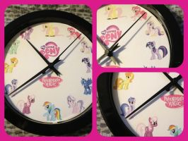 My little pony friendship is magic wall clock by magpie89