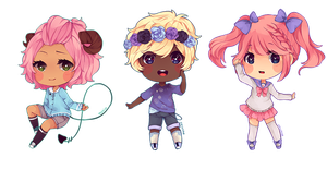 Mini Chibi: batch 3 by Mochiaa