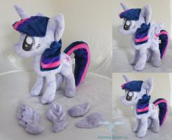 Twilight Sparkle with Removable Wings by dollphinwing