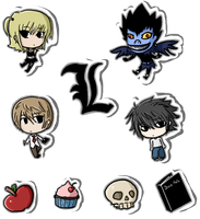 Death Note Stickers by Ika-Boushi