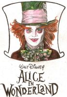 Johnny Depp as The Mad Hatter by girlinterruptedbyart