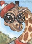 Nerdy But Cute Giraffe by sobeyondthis