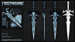 Frostmourne Low Poly, Handpainted Model by ezrikael