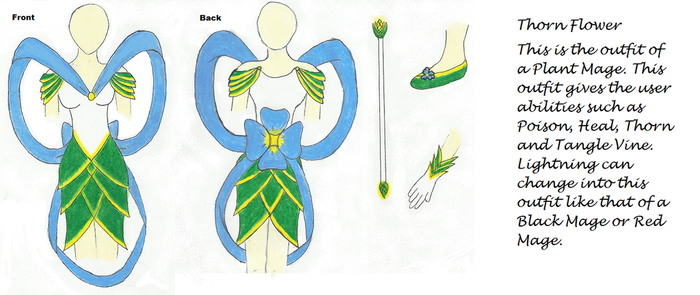 Thorn Flower Plant Mage by SmallBell