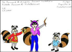 Michelle Raccoon And Friends by Megamink1997