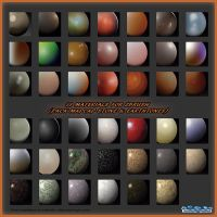 38 MATERIALS FOR ZBRUSH (PACK MAPCAP STONE) by HardPokers