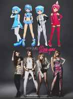 2NE1 - I love you (POSE PACK) by xCOLOURz
