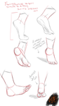 Gesture Practice : Feet Part 1 by minktee