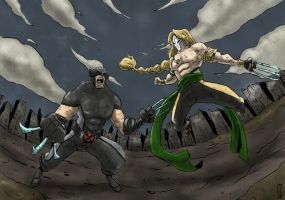 Battle of Claws no.2 by cjcenteno