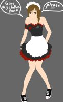 maid Kiley color base by krazie4anime