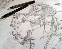 WIP RED SONJA by MARCIOABREU7
