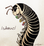 Millipede Omnom Sharpie Sketch by DJCoulz