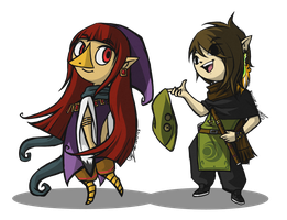 Wind Waker-style - Nairje and MS by KinglyMS