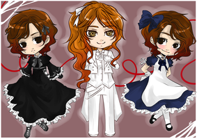 +Chibis Commission Set+ by Art-of-Kawaii