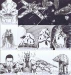 Star Wars Galactic Files Sketch Cards 2 by livewiredstudios