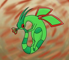 Flygon Munching Its Tail by Electric-Raichu
