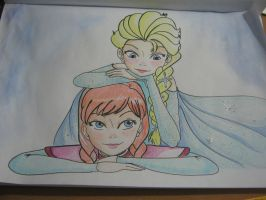 Anna and Elsa Commission by avafreak