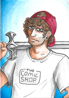 Comic Shop Guy ATC by death-g-reaper
