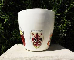 flower pot Florence Italy, coat of arms by naraosart