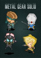 Metal Gear Chibis by FoxHoundGabe