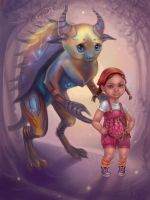 Girl and her Monster by Vasylina
