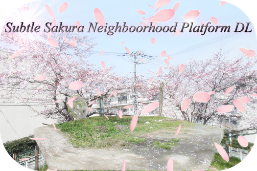 MMD Subtle Sakura Neighborhood Platform DL by AkitaFanZ