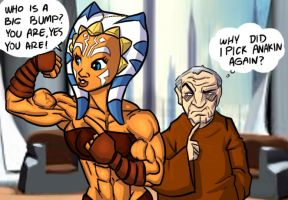 Dubious Palpatine and Ahsoka by Ritualist