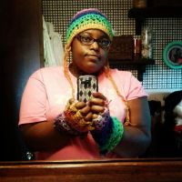Rainbow Beanie And Fingerless Gloves by A-Pretty-Bloodshed