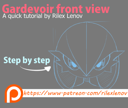 Gadevoir front view tutorial by RilexLenov