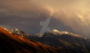 Stormy Light Wasatch Mountains by houstonryan