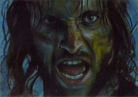 Aragorn card 196 by charles-hall