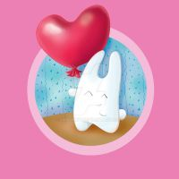 Bunny and heart balloon by jkBunny