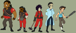 Team Fortress 2 - Character Lineup by Wrens-Inner-Monsters