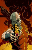 The Cyborg With a Golden Gun by JakeEkiss