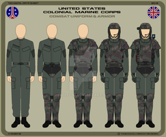 USCMC Combat Uniform and Armor by Wolff60