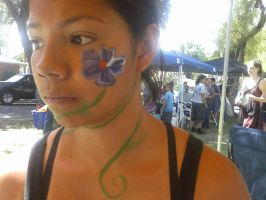 Face Painting Flower by Malonluvr