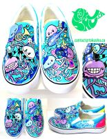 Jellyfish Shoes - Blue by artsyfartsyness