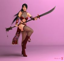 Momiji ninja render (Finished) by TheForgottenSaint47